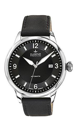 dugena automatik herrenuhr Dugena Herren Automatik-Armbanduhr, Saphirglas, Uhrwerk mit 24 Steinen, Kappa 1, Schwarz/Silber, 7000300