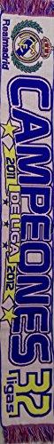 """Bufanda histórica Real Madrid """"Campeones de liga 2011 – 2012"""" 150 x 19 cm."""