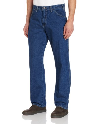 Dickies Herren Relaxed Straight-Fit Carpenter Jeans - Blau - 33W / 32L Fit Carpenter Jean