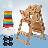 ZLMI Massivholz Babystuhl Portable Folding BB Hocker Mehrzweck-Essens Sitz 0-6 Jahre Alt,Metallic,C
