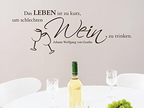 Klebeheld® Wandtattoo Das Leben ist viel zu kurz. (Farbe türkis/Größe 100x37cm)