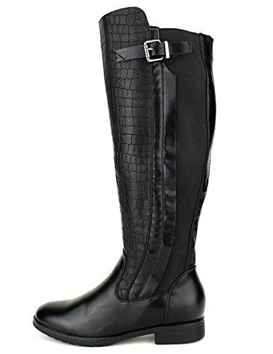 Cendriyon Botte Simili Peau Cuir Croco WEIDES Chaussures Femme