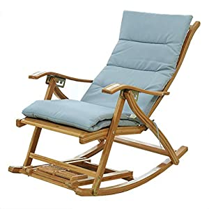 41kzYtuX8yL. SS300  - Rocking chair Rocking Chair Bamboo Indoor Living Room Outdoor Furniture UV Weather Resistant (Bamboo width 3CM)