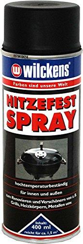 2 x Wilckens Hitzefest Spray hochtemperaturbeständig innen&außen Schwarz matt 800 ml