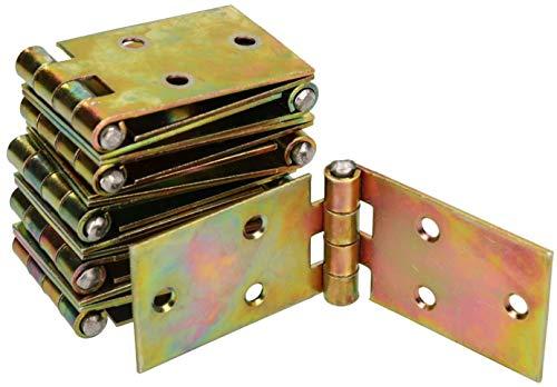 10 Kistenband caisses Charnières truhenband 190x35 möbelband Noir pulverbesch...