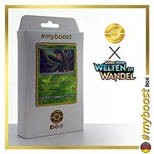 Tropius 12/236 Holo Reverse - #myboost X Sonne & Mond 12 Welten im Wandel - Box de 10 cartas Pokémon Alemán