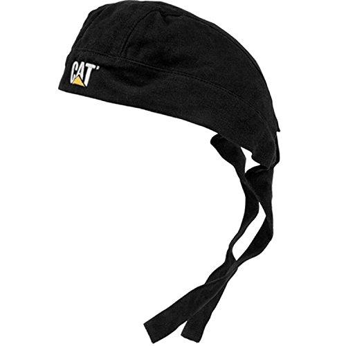 Cat Do Rag Black with 2 Tone Logo Heavy Brushed Twill Cap