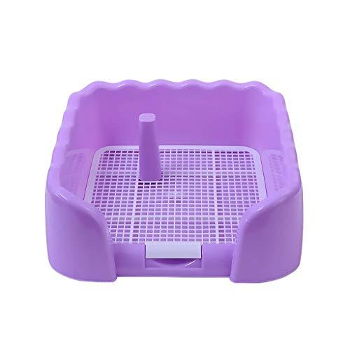 Heimtierbedarf Tragbarer Heimtier-Toilettenpapierhalter mit Zaun und PIPI-Säule Hunde Für den Innen- und Außenbereich Klotopf (Farbe: Lila)