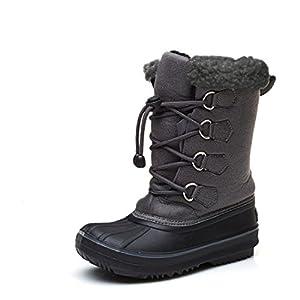 DorkasDE Kinder Mädchen Schneestiefel Winterstiefel Winter Schuhe mit Warmfutter Schneestiefel