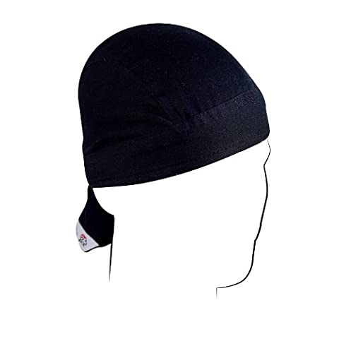 Zan Headgear ZSG114 Road Hog Flydanna 100 Percent Cotton Solid Black