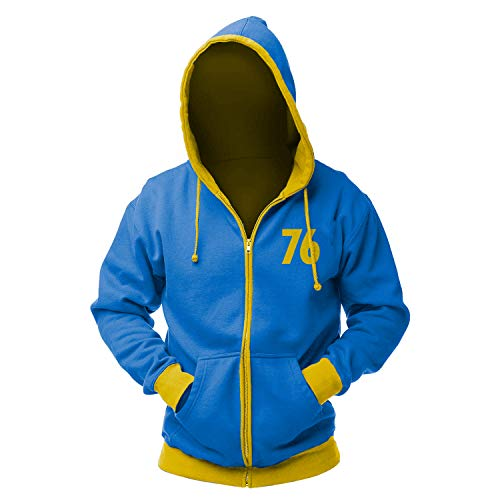 fallout hoodie Fallout Vault 76 Zip Hoodie M