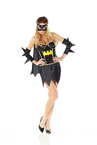 Kostüm Batgirl Girls Gotham - shoperama Sexy Fledermaus Girl Kostüm Gr. 36 - Modell 2