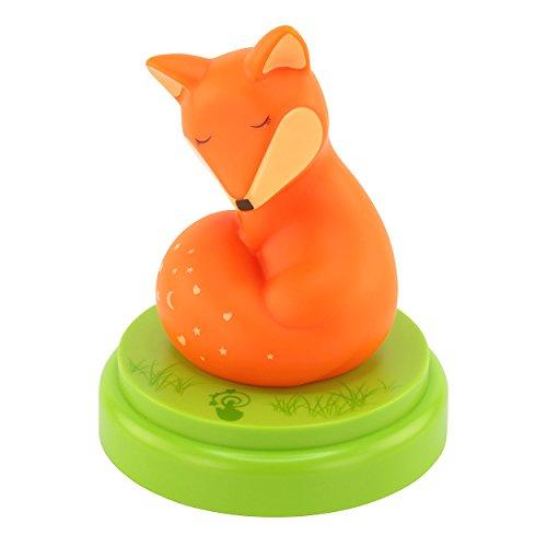 ANSMANN LED-Nachtlicht niedlicher Fuchs für Kinder/Babys Cartoon Orientierungslicht Einschlafhilfe autom. Abschaltung Touchsensor - Bestätigte Kindersicherheit, von jungen Eltern empfohlen