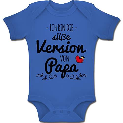 Shirtracer Vatertag Baby - Ich Bin die süße Version von Papa - 1-3 Monate - Royalblau - BZ10 - Baby Body Kurzarm Jungen Mädchen (Für Mädchen Kleidung Spaß,)