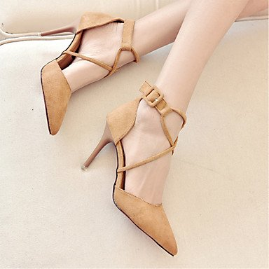 Rtry Sandalias Para Mujer Comfort Cashmere Casual Verano Walking Separating Joint Low Heel Khaki Negro 2a-2 3 / 4en Us8 / Eu39 / Uk6 / Cn39