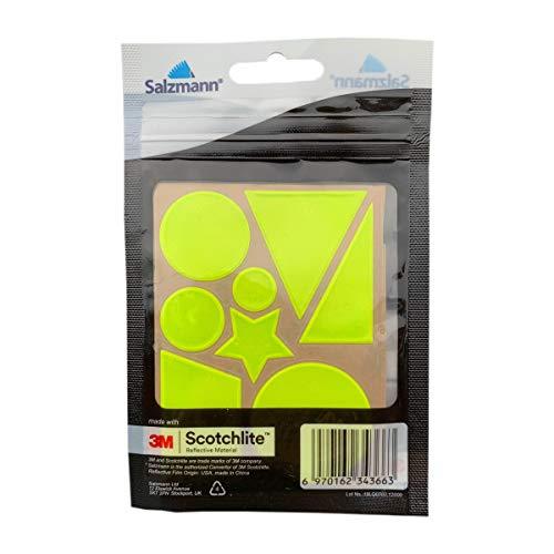 Salzmann 3M Reflektorensticker, ausgestattet mit 3M Scotchlite, reflektierende Aufkleber in verschiedenen Formen für Fahrradfelgen, Helme, Rucksäcke, Schulranzen, etc,...