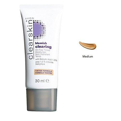 Nettoyage de la peau de Clearskin sans peau hydratante teintée sans huile (moyenne)