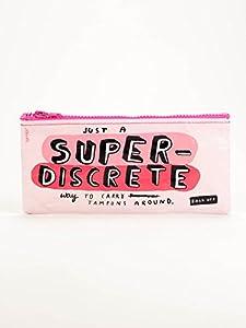 """BlueQ Pencil Case - """"Just a Super Discrete Way to Carry Tampons Around"""""""