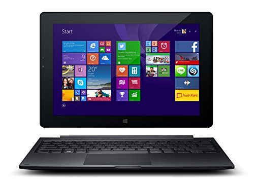 Odys Winpad V10 2in1 25,7 cm (10,1 Zoll) Convertible Tablet-PC (Intel Atom Quadcore Z3735F, 1,83GHz, 2GB RAM, 32GB HDD, Win 8.1 Office 365 Personel, HD IPS Display, Bluetooth 4.0, Micro HDMI, Micro USB, Micro SD) schwarz