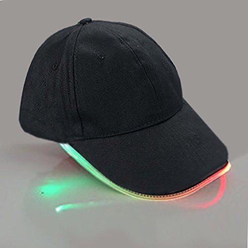 LED Hat,TILO Multicolor LED Fiber Optic Illuminated Lights Light Stage Performance Tide Lighted Glow Club Sports Athletic Travel Tour Hat Baseball Bar Party Flash Cap Multicolor by TILO (Athletic Hat)