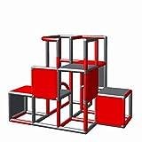 Moveandstic 875056 - Grundbaukasten Profi in verschiedenen Farben grün apfelgrün Titan grau rot (rot titangrau)