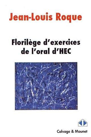 Florilège pour l'oral HEC