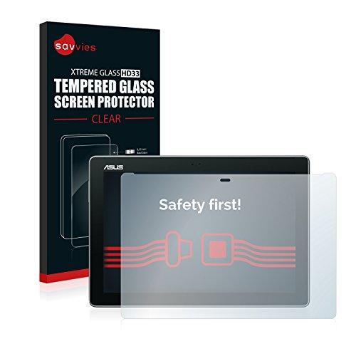 pellicola tablet asus zenpad 10 Savvies Vetro Temperato Compatibile con ASUS ZenPad 10 Z300M Pellicola Protettiva - Durezza 9H