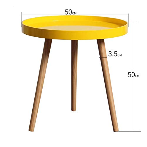 HYLH Side Tables,Tables Coffee Tables Round Side Tables Modern End Tables Occasional Tea Tables Nesting Tables for Balcony and Living Room Set (Color : Large disc Yellow) -