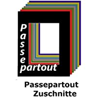 Passepartout 50 x 60 cm mit individuellem Zuschnitt - mit Schrägschnitt