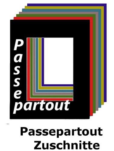 Passepartout 40 x 50 cm mit individuellem Zuschnitt - mit Schrägschnitt