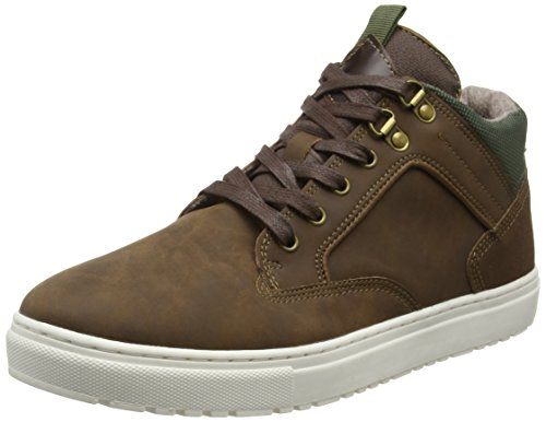 New Look Cleated Casual, Stivaletti Uomo, Marrone (Brown (24/Mid Brown)), 43 EU