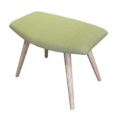 Mmzz poligono sgabello/cambia scarpe sgabello/sedia da conferenza/seduta piccola, cotone imbottito e lino/gambe in legno, per cabina armadio/sala studio/soggiorno/sala da pranzo