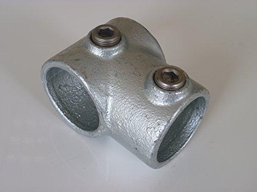 'Raccord en T pour B & T Tube en métal court T101Ø 42,4mm (11/4) Fonte malléable thermisch vollbadverzinkt avec vis