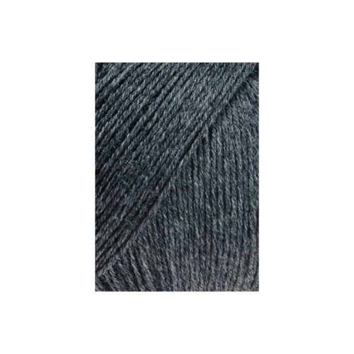 LANG YARNS Merino 400 Lace - Farbe: Anthrazit Mélange (0070) - 25 g/ca. 200 m Wolle -