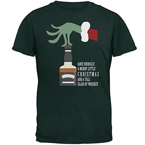 Weihnachten Frohe wenig Whiskey Wald Erwachsenen T-Shirt Green
