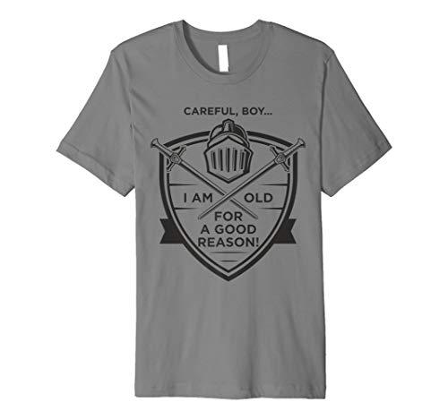 Tempelritter T-Shirt Knight Shield Sword Old für gute Grund
