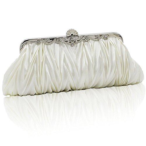 XY Fancy, Poschette giorno donna nero nero, argento (argento) - RH#BB1010-1348-SNB04 bianco