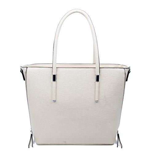 Damen Business Tasche Shopper Workbag Schultertasche Umhängetasche Handtasche Henkeltasche (Beige) Beige