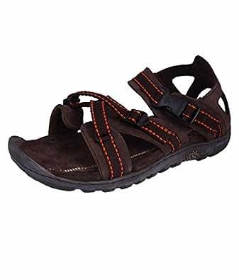 Woodland Men 's Brown Leather Fashion Sandals (7 UK)