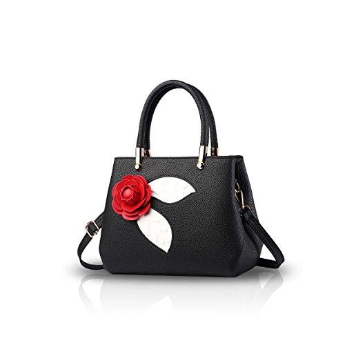 NICOLE&DORIS Donne Moda semplice borsa di Crossbody spalla borsa piccolo sacchetto morbido PU carino Totes Grigio Chiaro Nero