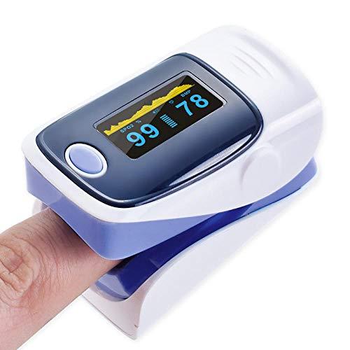 HJUNH Oximeter,Pulse Oximeter Fingertip Blood Oxygen Saturation Monitor Finger-Pulsoximeter Tragbares Digitales GroßBild-Oximeter, Lila