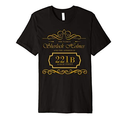 Sherlock Holmes T-Shirt Detektiv-Geheimnis-Verbrechen