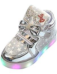 e3fd8dded1fa5 QInMM Ballerines Filles Paillettes Bowknot Perle Perlé Chaussures en  Cristal, Bébé Mode Enfants Princesse Danse Cuir Occasionnels Unique…