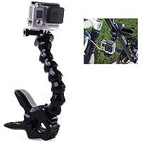 InnoMagi Jaws Flex Clamp Clip Mount Morsetto per Montaggio + Regolabile Monopiede Braccio Flessibile a Collo di Cigno per GoPro Eroe 1 2 3 3+ Altro Fotocamera Sport - Nero