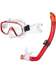 Aquazon Kinder Schnorchelset FUN, Schnorchelbrille und Schnorchel, für Kinder von 3-7 Jahren
