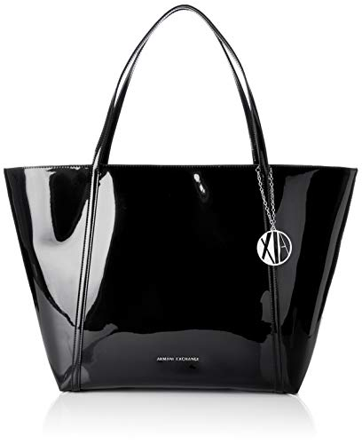 ARMANI EXCHANGE Medium Shopping Bag - Borse Tote Donna, Nero (Black), 32x13.3x56 cm (B x H T)
