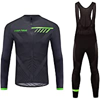 Uglyfrog #06 2018 Invierno Mantener Caliente Manga Larga Maillot Ciclismo Hombre Bodies +Long Bib Pant with Gel Pad Winter Style