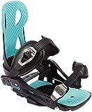 beyondsnow Damen/Herren Snowboard Bindung schwarz/blau L (Größe 41-44)
