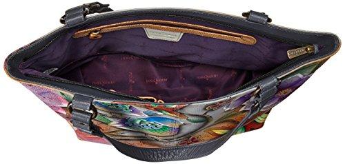 Anuschka sac à bandoulière de luxe dames en cuir peint à la main , 524 Blissful Birds Blissful Birds