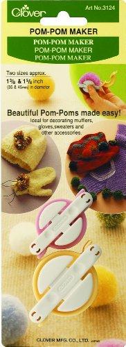 Clover MID(H10,4,10) Clover Herstellungs-Set für Pompoms klein (Kleine Pom-pom-maker)